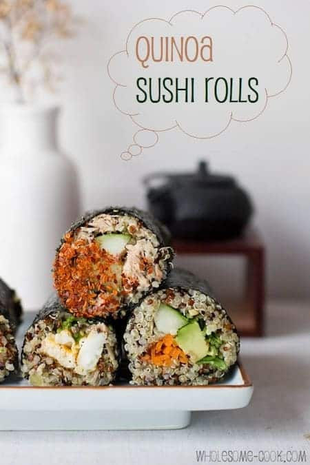 ... Eats | 21 Authentic Japanese Vegan Recipes |Quinoa-Sushi-Rolls-1