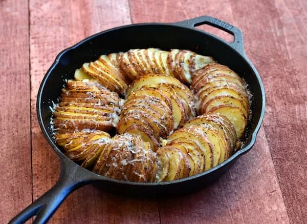 RecipeTin Eats ESSENTIALS | Hasselback Potatoes - 5 Takes | Hasselback Potatoes with Parmesan and Garlic in Skillet
