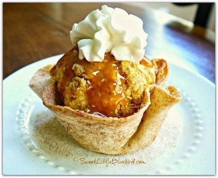 24 Things To Make With Tortillas: Baked Cinnamon Sugar Tortilla Bowl
