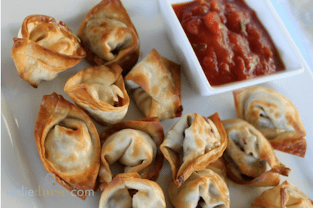 Baked Mexican Wontons