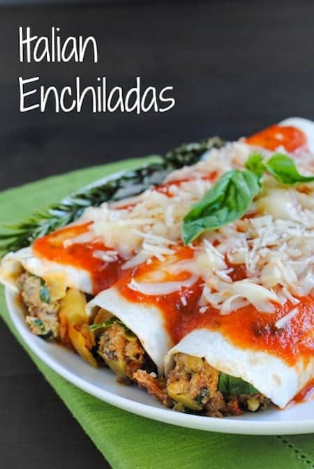 24 Things To Make With Tortillas: Italian Enchiladas
