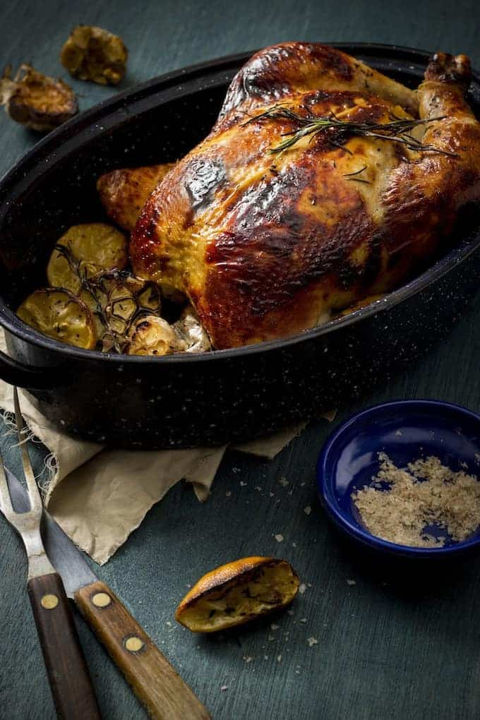 Brining is the secret to an incredibly moist, succulent, flavour infused roast chicken. This brine is based on a recipe by Thomas Keller, one of the great masters of the culinary world.