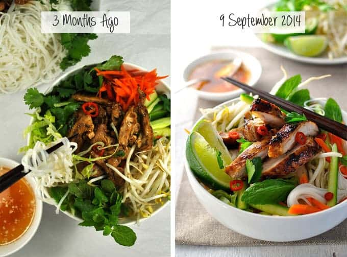 Vietnamese Noodle Salad Bowl with Chicken RecipeTin Eats