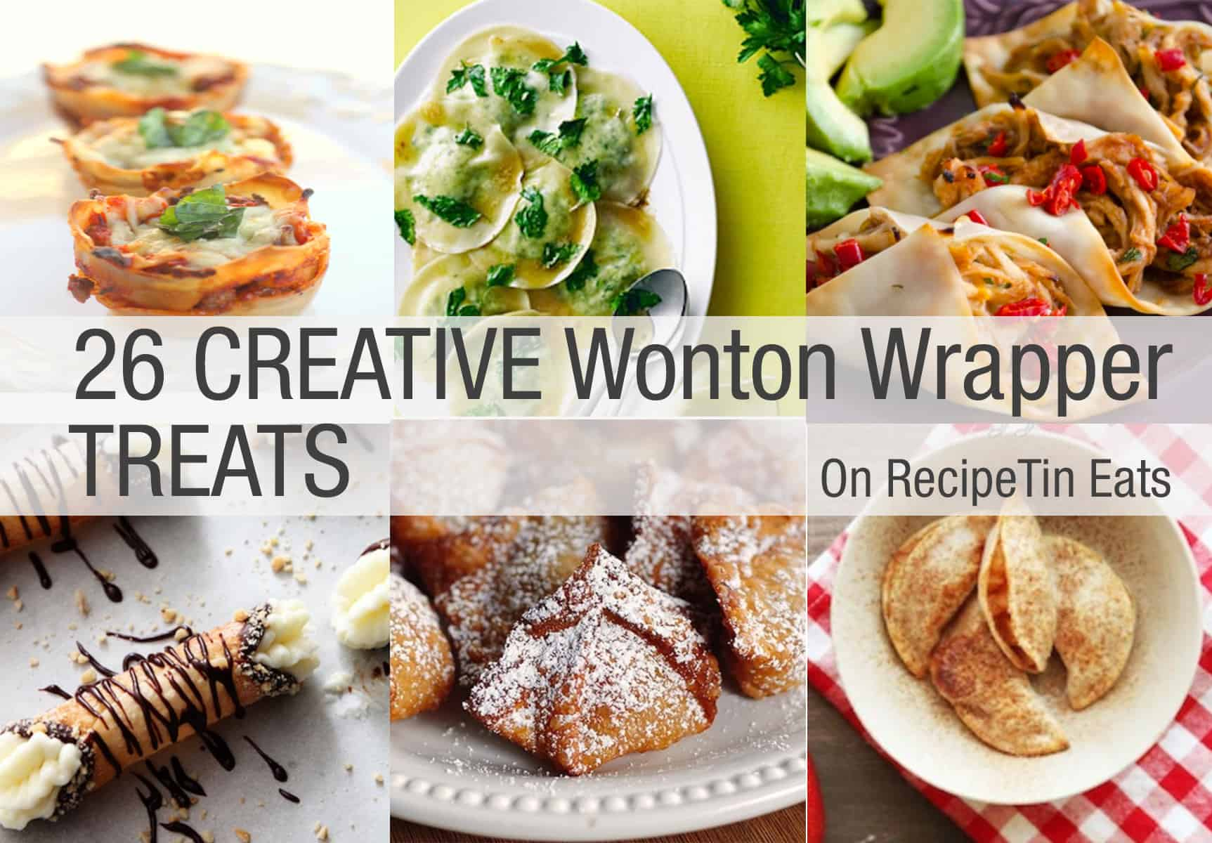 26 Creative Bites Made With Wonton Wrappers Recipetin Eats