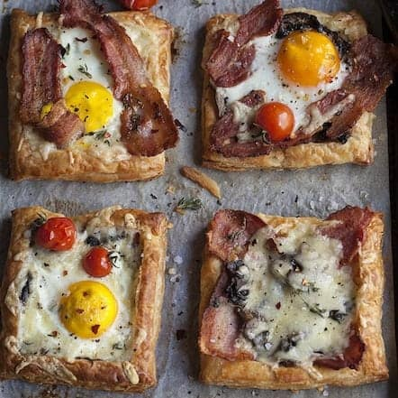 Bacon & Egg Breakfast Pies