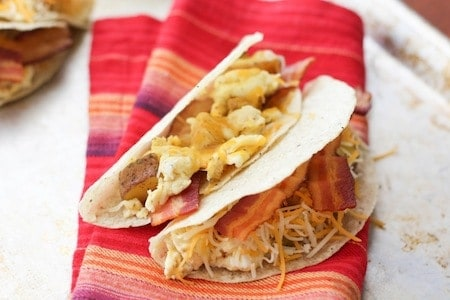 Bacon & Egg Tacos
