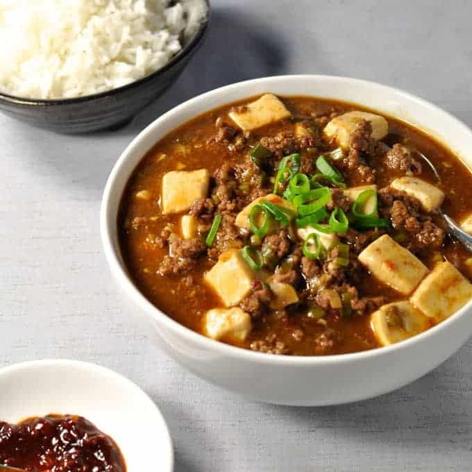 Mapo Tofu: Japanese version of the famous Sichuan Dish, with the same ...