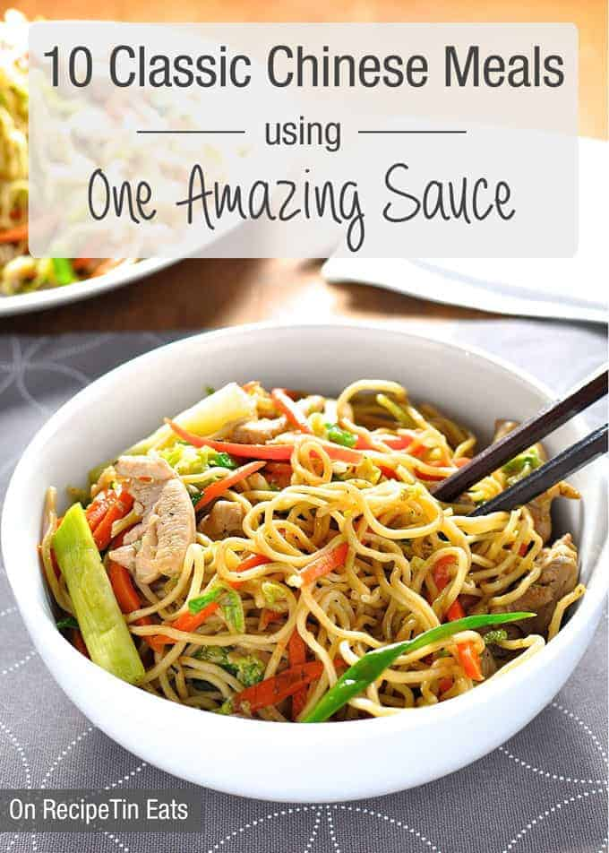 10 Classic Chinese Dishes made using one AMAZING All Purpose Stir Fry Sauce. {All on the table in 15 min}