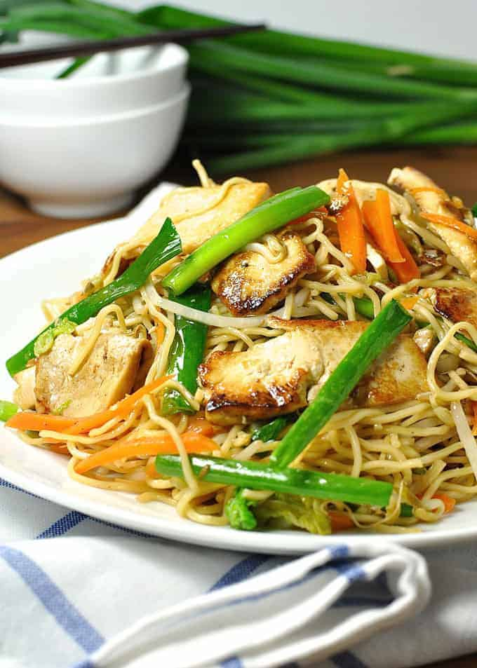 Real vegetarian chow mein recipetin eats vegetarian tofu chow mein vegan an authentic recipe 15 minute meal forumfinder Image collections