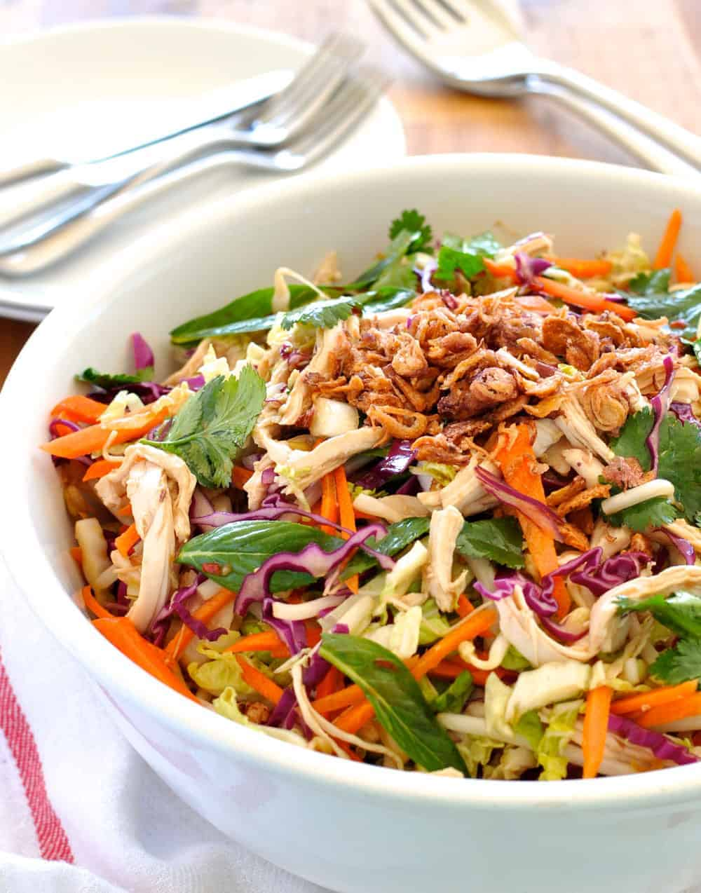 Crunchy Asian Chicken Salad | RecipeTin Eats
