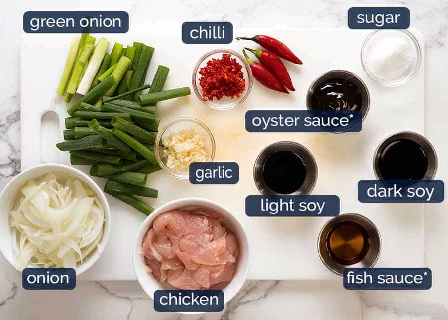Ingredients in Thai Drunken Noodles