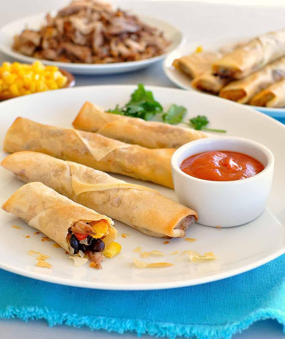 Baked Mexican Spring Rolls Egg