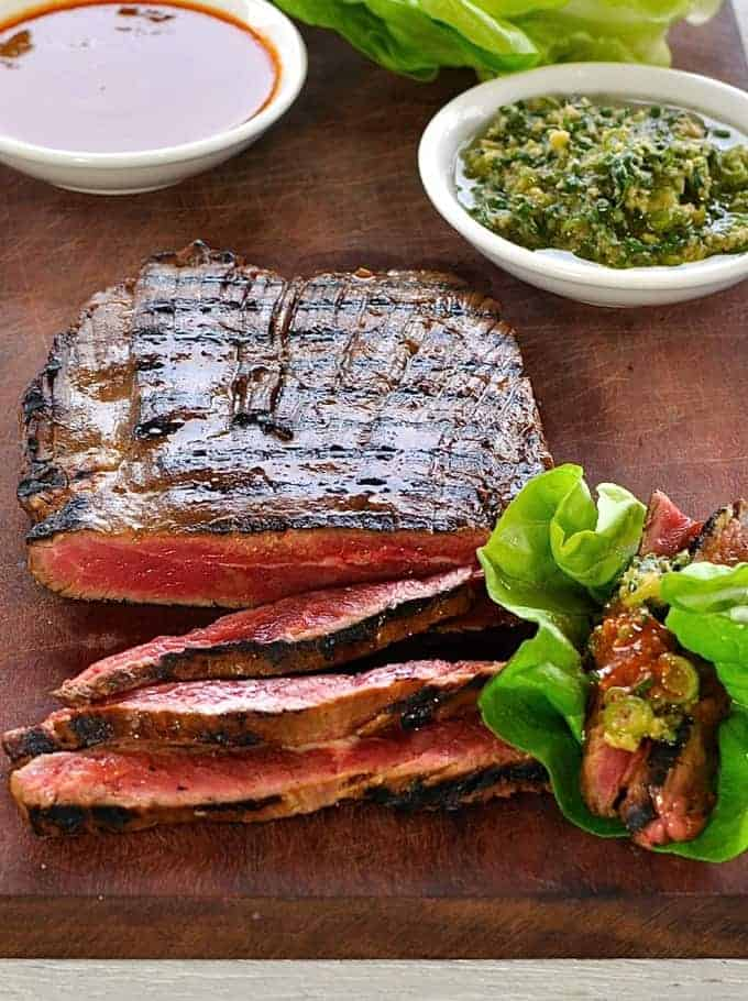 Momofuku Marinated Beef Skirt Steak Ssam | RecipeTin Eats