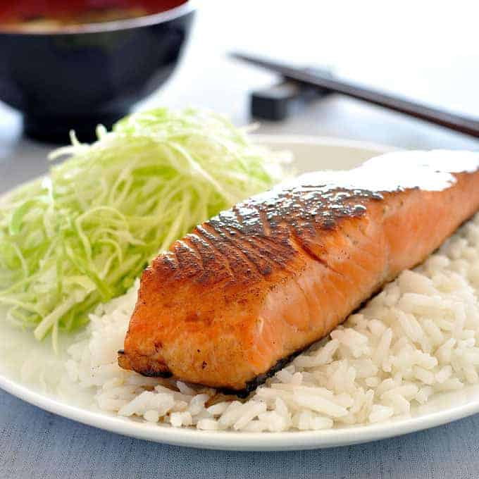 Japanese salmon with mirin and soy sauce recipetin eats for Japanese fish recipes