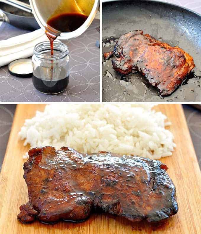 Only 4 ingredients, so easy and fast to make and the flavour infuses into the meat better than bottled sauce! #grill #Japanese #marinate