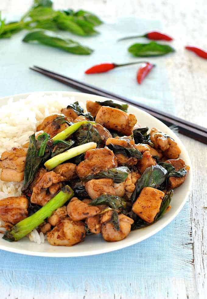 Thai chilli basil chicken recipetin eats forumfinder Choice Image