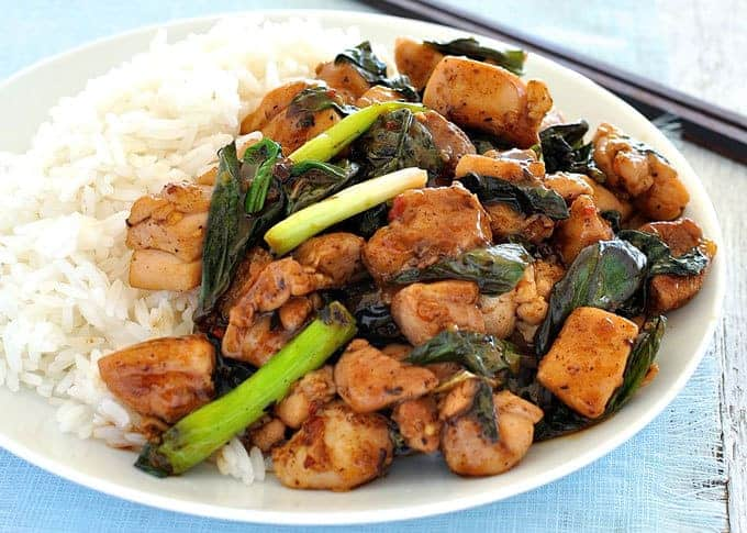 Thai Basil Chicken - Right off the streets of Thailand, made in your own home in just 15 minutes!