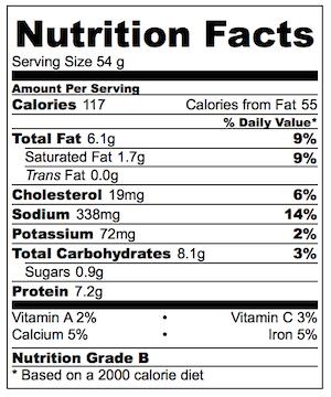 Caesar Salad Wonton Cups Nutrition