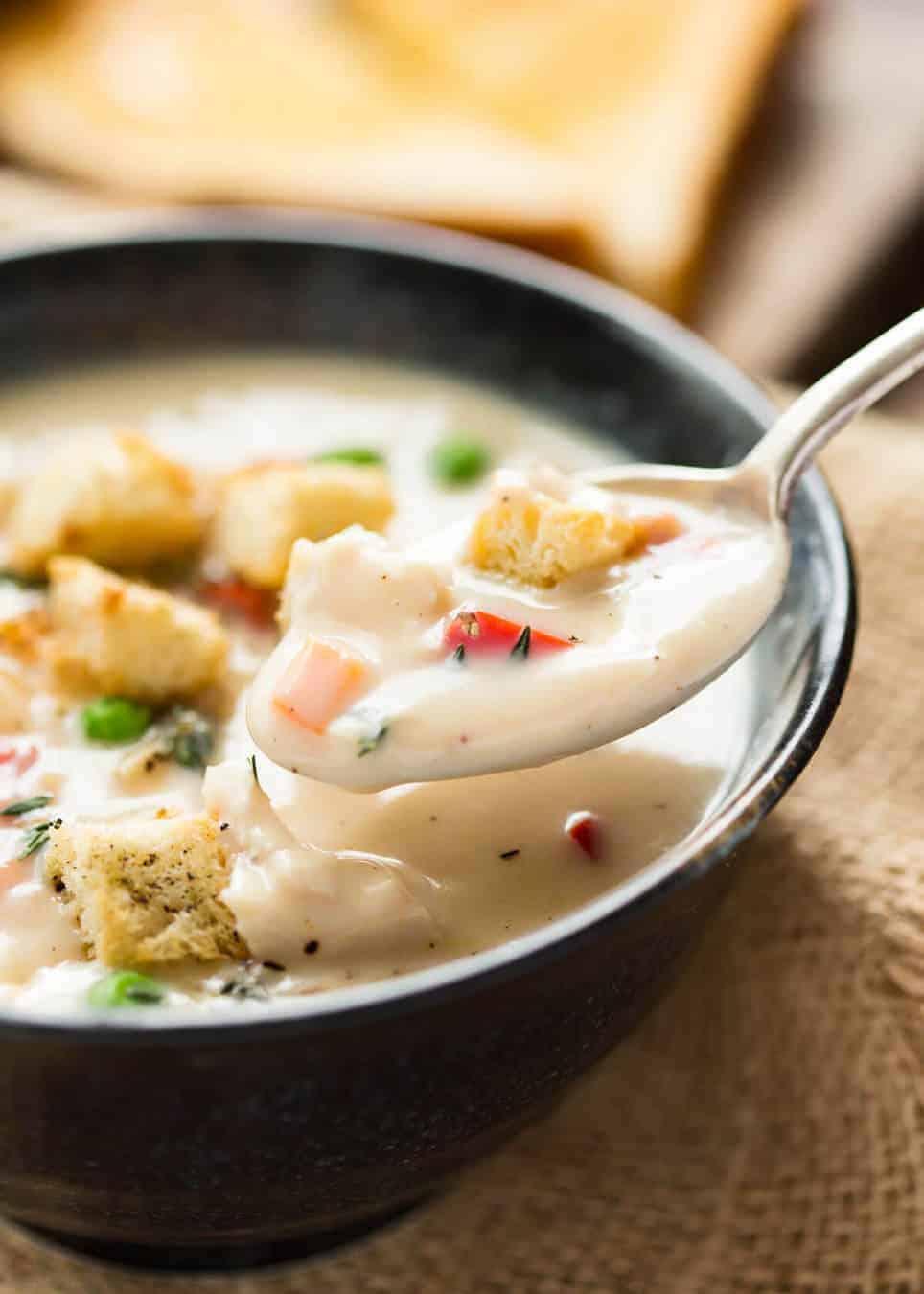 Homemade Cream Of Chicken Soup Recipetin Eats