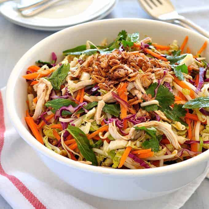 Crunchy Asian Chicken Salad – this is like an Asian 'slaw. So ...