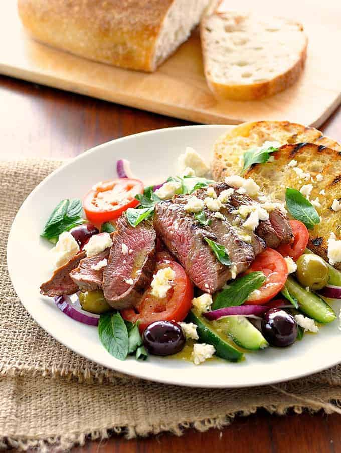Time saving tip to double up the salad dressing as a quick marinade. On the table in 15 minutes! #lamb #grilling #bbq