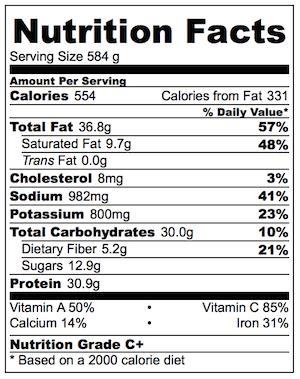 Greek lamb salad dinner nutrition