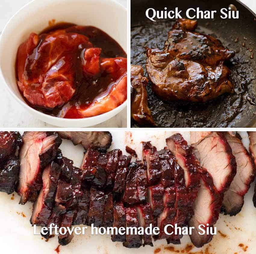 Preparation steps for Char Siu Pork for Singapore Noodles