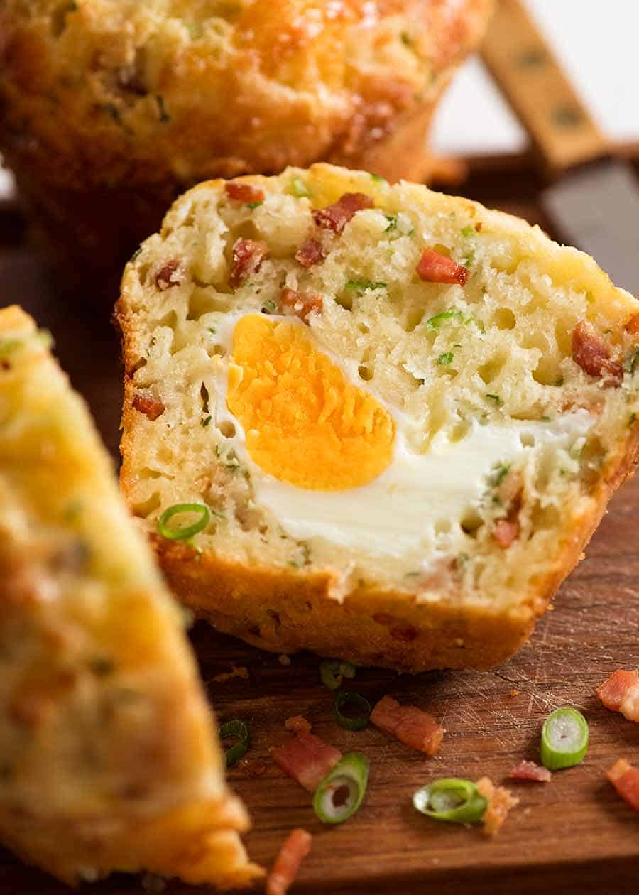 Breakfast Muffin with whole egg inside
