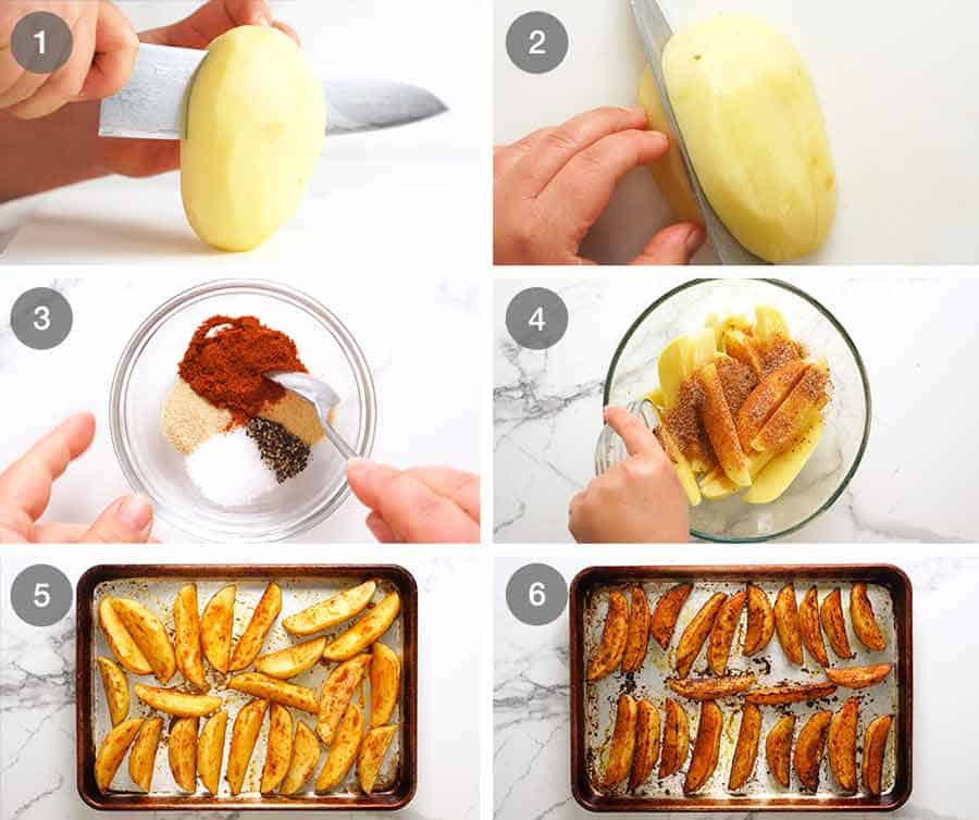 How to make Crunchy Baked Potato Wedges
