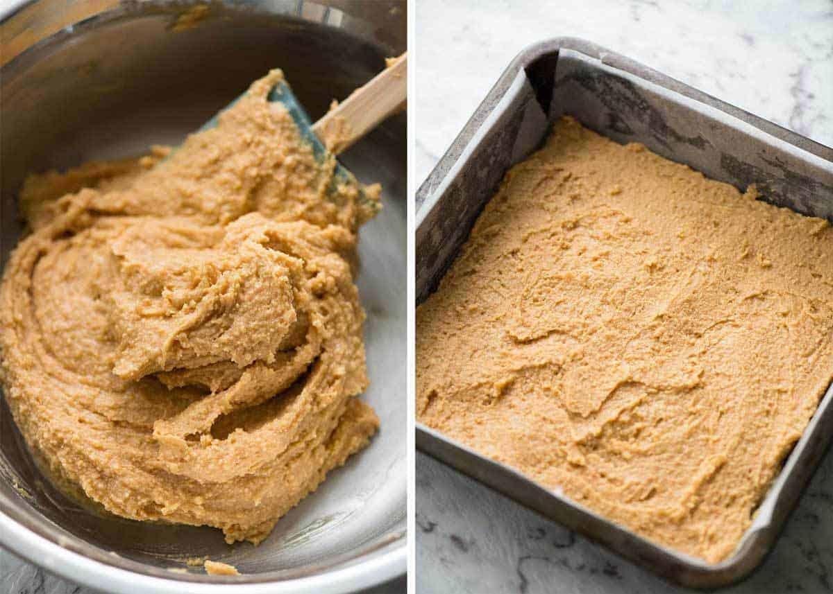 Preparation of No Bake Chocolate Peanut Butter Bars