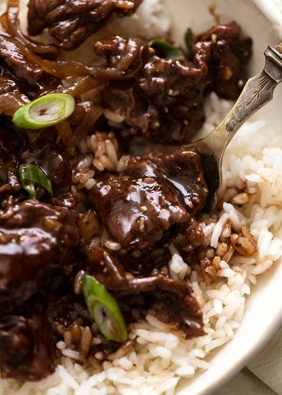 Close up of Chinese Honey Pepper Beef