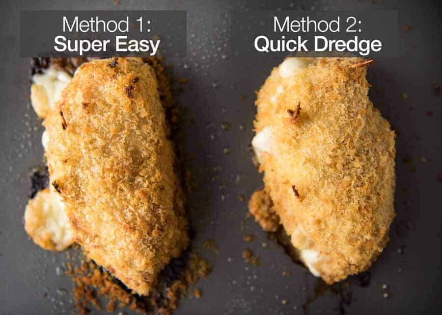 Preparation steps for Easy Chicken Cordon Bleu