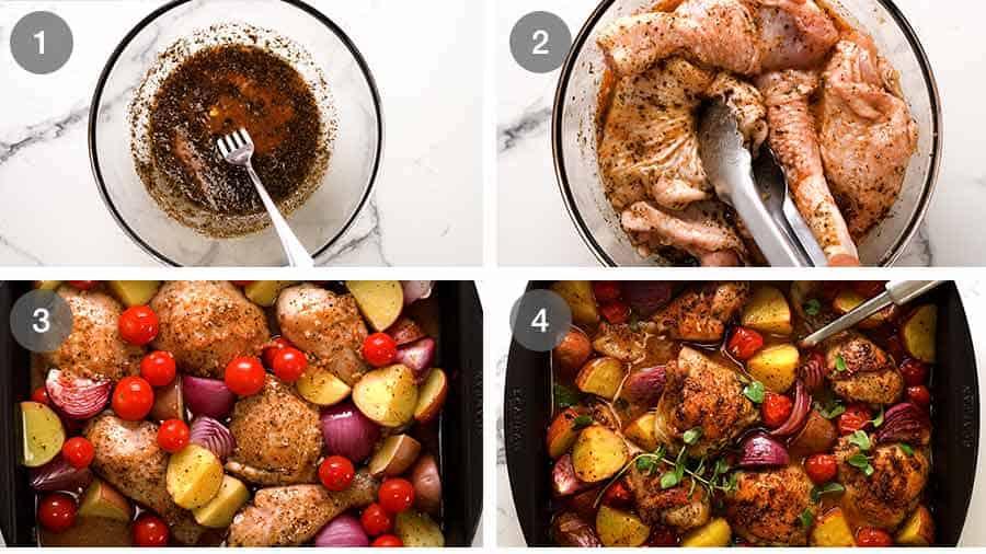 How to make Mediterranean Baked Chicken Dinner