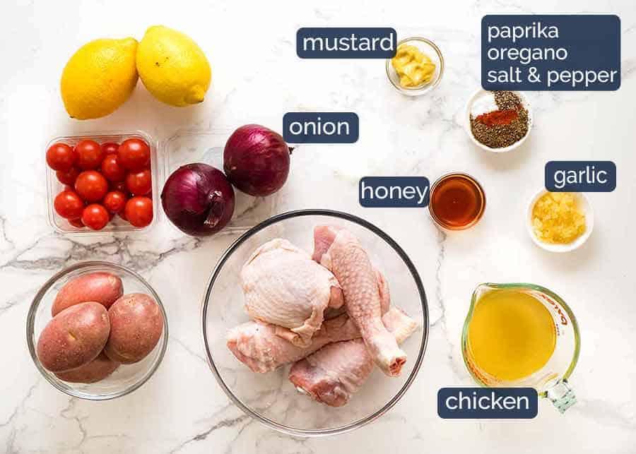 Ingredients in Mediterranean Baked Chicken Dinner