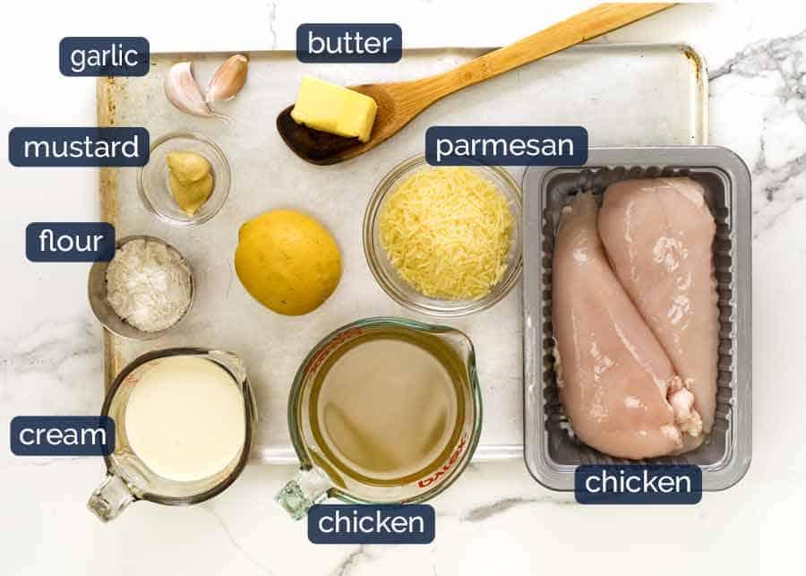 Creamy Lemon Chicken ingredients