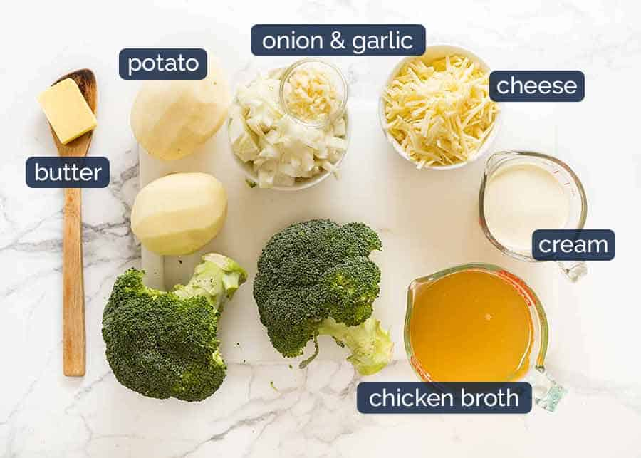 What goes in creamy Broccoli Soup with Cheddar Cheese