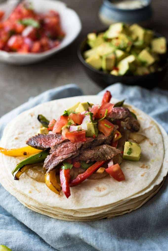 Beef Fajitas - Made extra juicy and extra tasty with a wicked marinade!