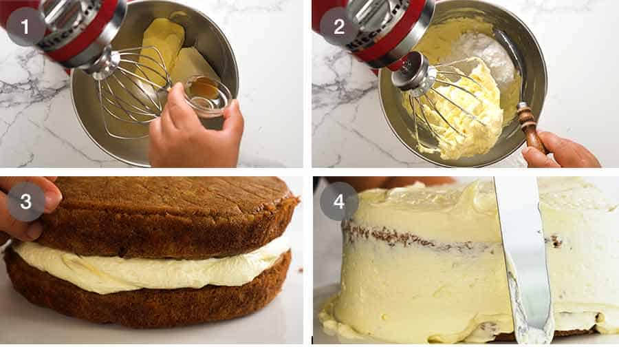 How to frost Carrot Cake