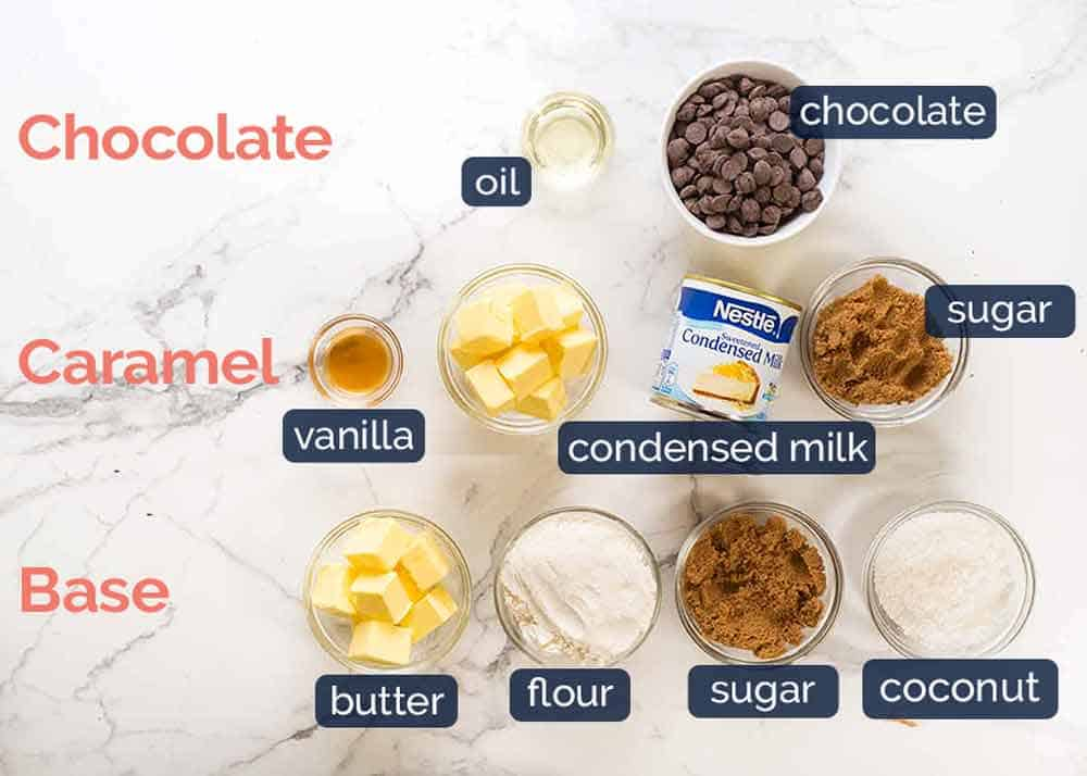What goes in Caramel Slice