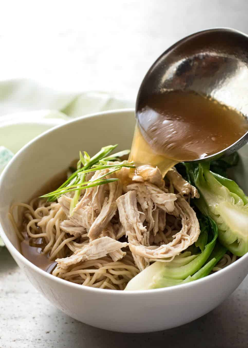 A fast and easy PROPER Chinese soup broth is the key to a noodle soup that tastes as good as what you get at restaurants. Just 20 minutes to make!