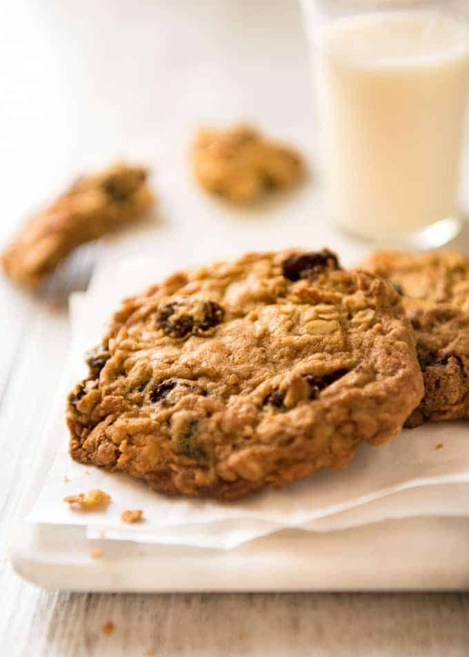 Oatmeal Raisin Cookie recipe - for perfect big, soft, moist, CHEWY Oatmeal Raisin Cookies! www.recipetineats.com