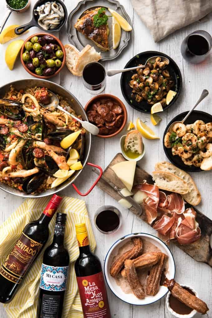 Spanish Feast - A multi course feast, easy Spanish dinner menu to make in your own home! www.recipetineats.com