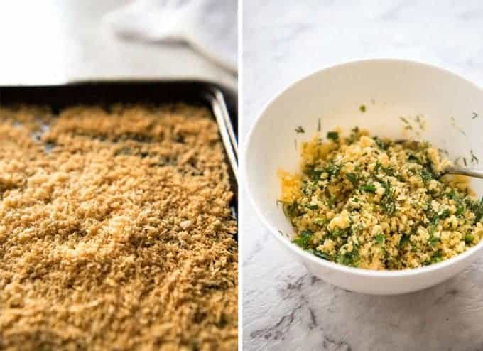 Baked Parmesan Crusted Salmon with Lemon Cream Sauce - easy and fast to make, can be prepared ahead, a stunning centrepiece for Christmas dinner and yet easy enough for midweek. That Lemon Cream sauce is the perfectly finishing tough. www.recipetineats.com