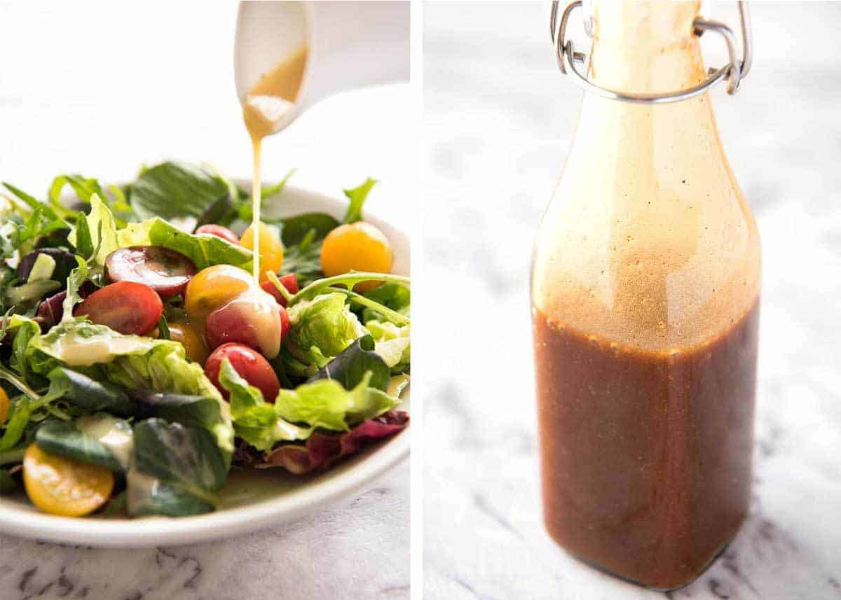 Easy Salad Dressing Recipes - Long Shelf Life, Ready To Use - Balsamic Vinaigrette and Honey Mustard Salad Dressing www.recipetineats.com