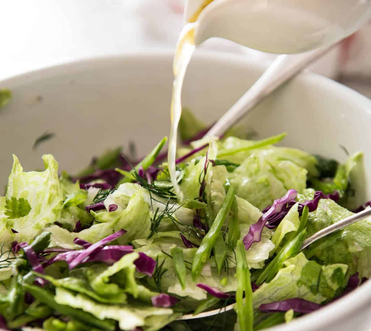 Iceberg Lettuce Salad with Dill www.recipetineats.com