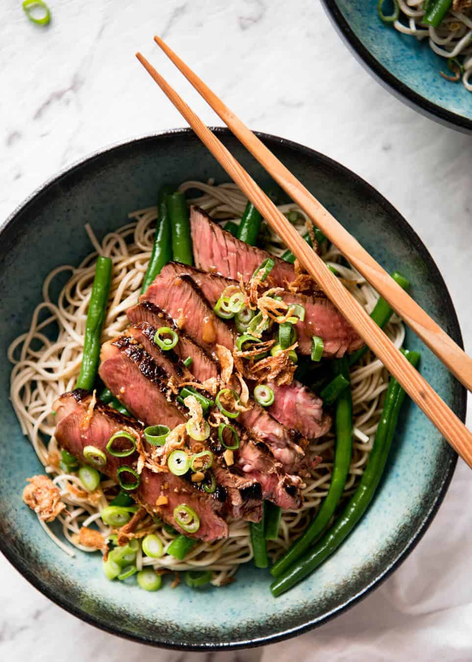 Beef Soba Noodles With Green Beans Recipetin Eats