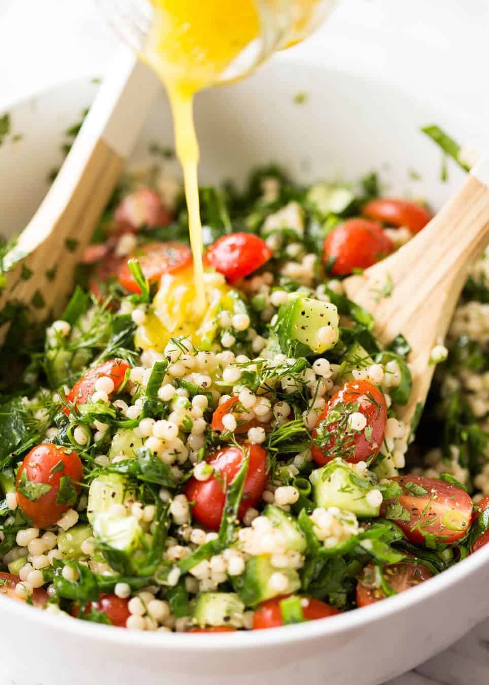 Israeli Couscous Salad Recipetin Eats