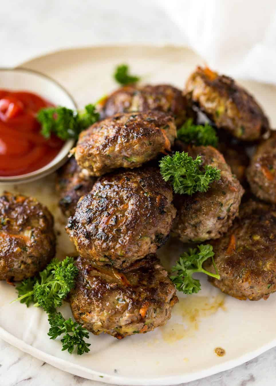 This is how to make plump, juicy, extra tasty rissoles with hidden veggies! www.recipetineats.com