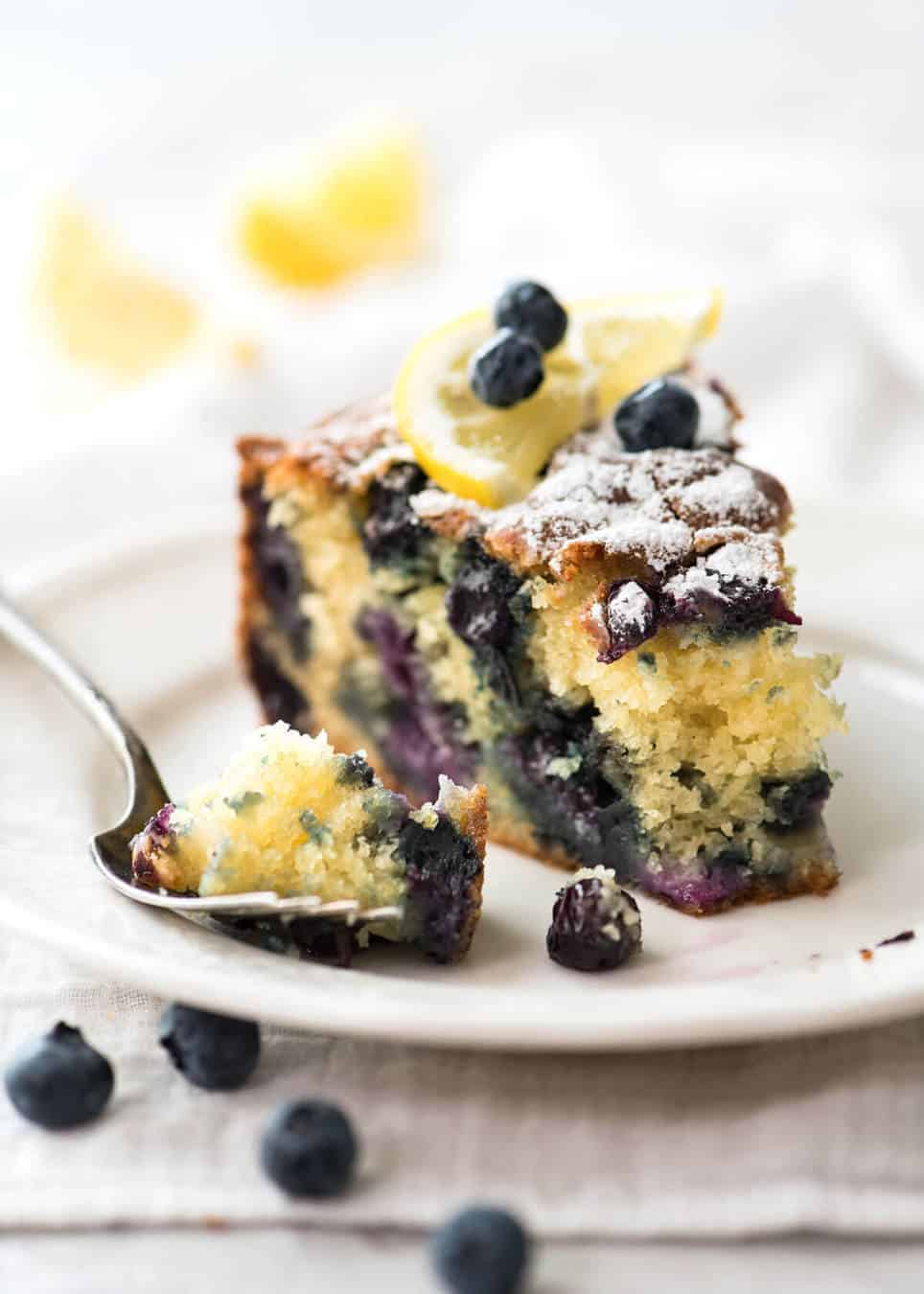 A lovely Blueberry Lemon Yoghurt Cake that's incredibly moist and astonishingly quick to make. www.recipetineats.com