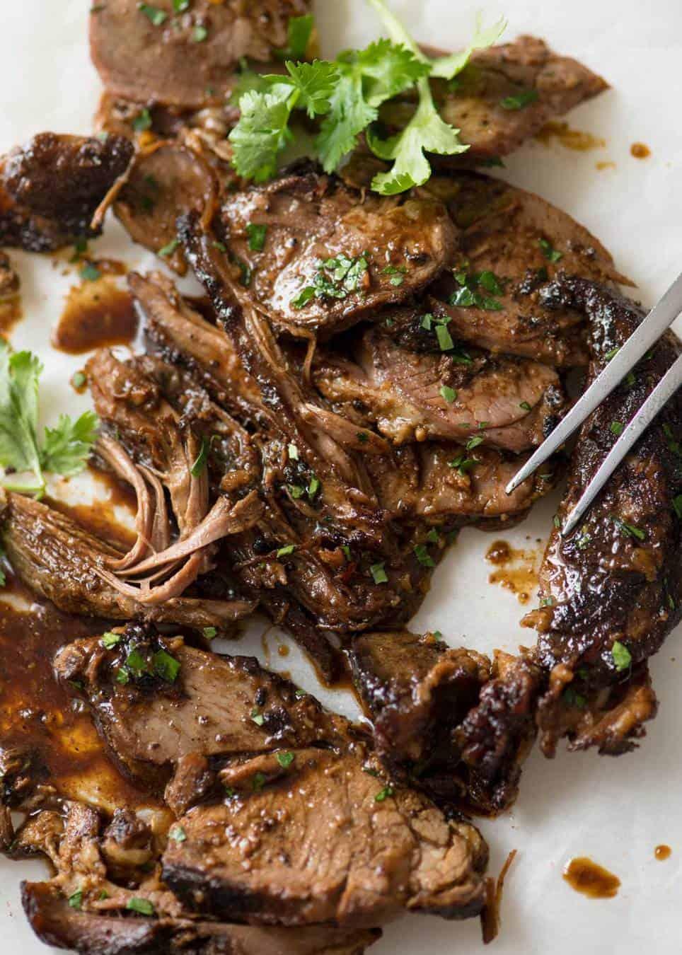 Meltingly tender, slow roasted Lamb Shawarma
